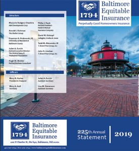 Baltimore Equitable Insurance 2019 Annual Statement